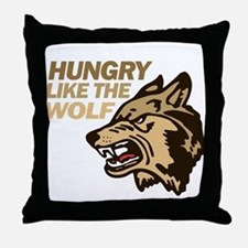 Hungry Like Wolf Duran Rio Throw Pillow