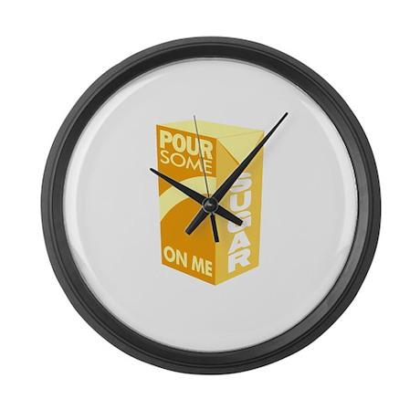Pour Sugar Def Leppard Large Wall Clock