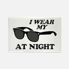 Wear Sunglasses Night Rectangle Magnet