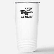 Wear Sunglasses Night Stainless Steel Travel Mug