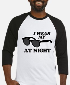 Wear Sunglasses Night Baseball Jersey