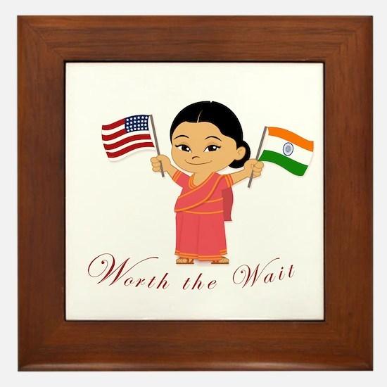 Worth The Wait India Adoption Framed Tile