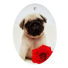 Pug Puppy Oval Ornament