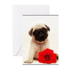 Pug Puppy Greeting Cards (Pk of 10)