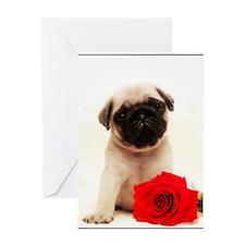 Pug Puppy Greeting Card