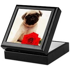 Pug Puppy Keepsake Box