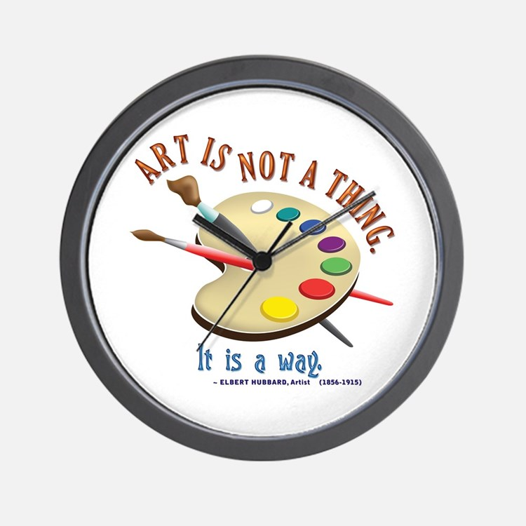 Art is not a thing Wall Clock