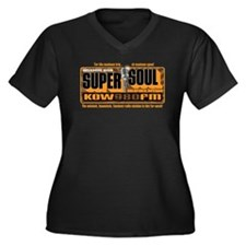 Super Soul Women's Plus Size V-Neck Dark T-Shirt
