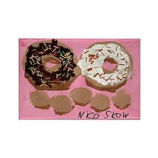 Donut Family Rectangle Magnet