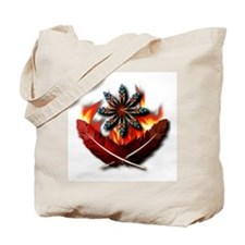 Native Red-Tailed Hawk Feathers Tote Bag