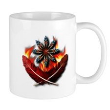 Native Red-Tailed Hawk Feathers Mug