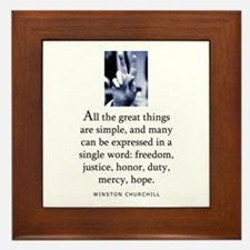 Great things Framed Tile