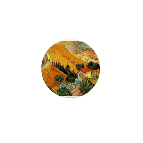 House and Ploughman Mini Button (100 pack)