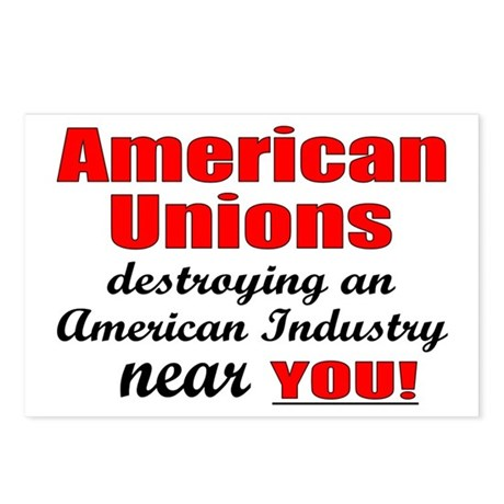 Unions Postcards (Package of 8)