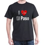 I Love El Paso Texas (Front) Black T-Shirt