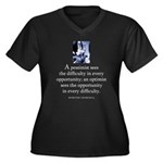 An optimist Women's Plus Size V-Neck Dark T-Shirt