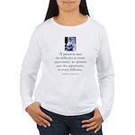 An optimist Women's Long Sleeve T-Shirt