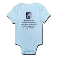 An optimist Infant Bodysuit