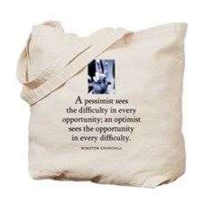 An optimist Tote Bag