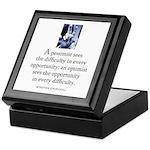 An optimist Keepsake Box