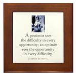 An optimist Framed Tile