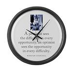 An optimist Large Wall Clock