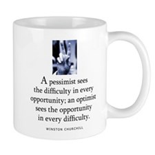 An optimist Mug