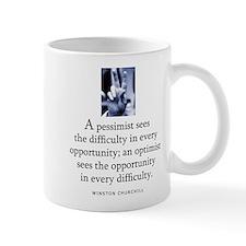 An optimist Small Mug