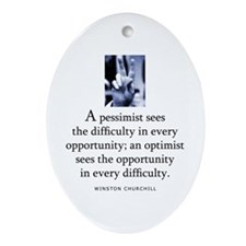 An optimist Oval Ornament