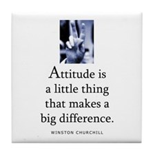 Attitude is Tile Coaster