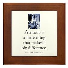 Attitude is Framed Tile