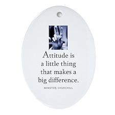 Attitude is Oval Ornament