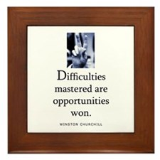 Difficulties Framed Tile