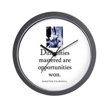 Difficulties Wall Clock