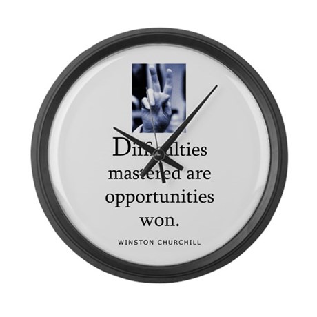 Difficulties Large Wall Clock