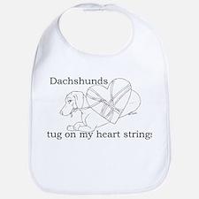 Dachshund Heart Strings Bib