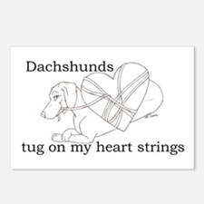 Dachshund Heart Strings Postcards (Package of 8)