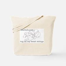Dachshund Heart Strings Tote Bag
