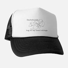 Dachshund Heart Strings Trucker Hat