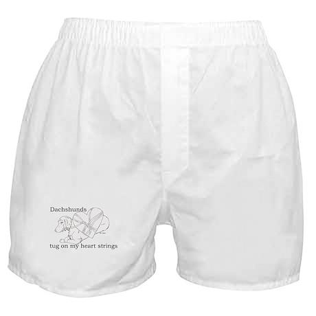 Longhaired Dachshund tug Boxer Shorts