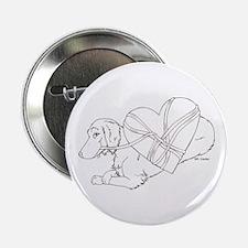 Longhaired Dachshund heartstr Button