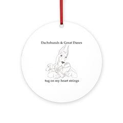 CGDnDox Tug Ornament (Round)