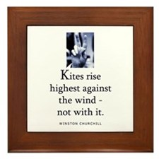 Kites rise Framed Tile