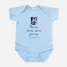 Never give up Infant Bodysuit