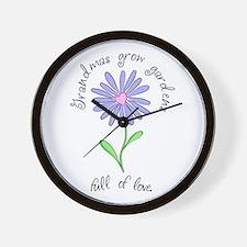 Grandmas Grow Gardens Full of Wall Clock