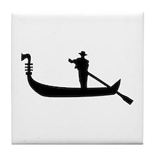 Venice Gondola Tile Coaster