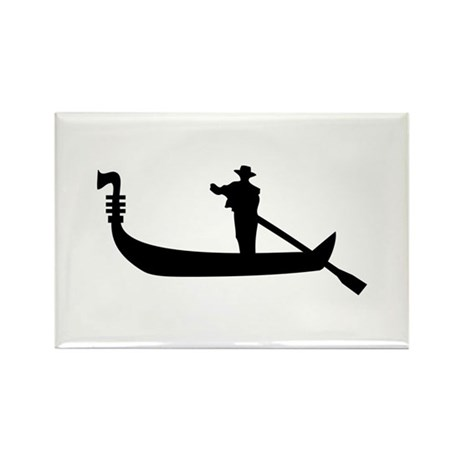 Venice Gondola Rectangle Magnet (10 pack)