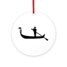 Venice Gondola Ornament (Round)