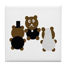 wedding day Tile Coaster