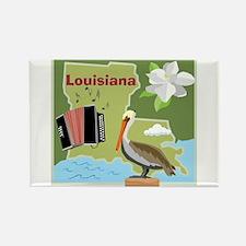 Louisiana Map Rectangle Magnet